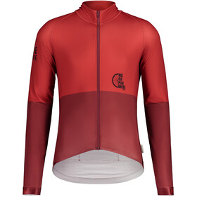 Maloja PushbikersM. 1/1 Longsleeve Fietsshirt Heren, red monk multi